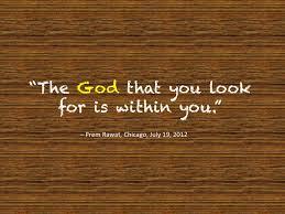God is within u