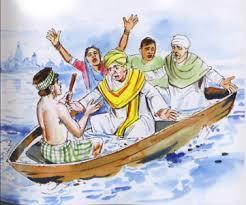 pandit in a boat